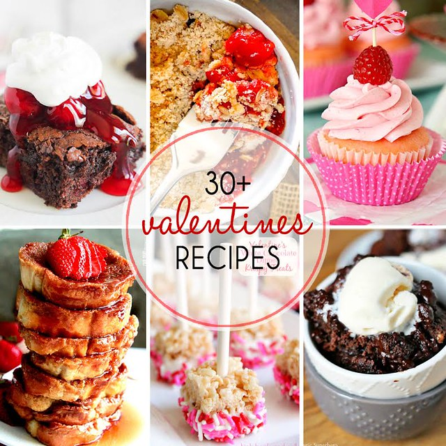 30+ Valentine's Recipes collage.