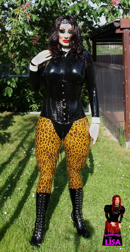 rubberdoll_lisa1 a doll in the garden by rubberdoll_lisa1 - The Doll In The Garden