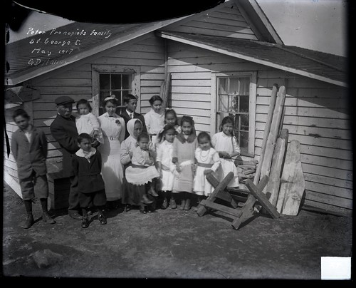 Peter Prokopiof And Family in Front of House | by The U.S. National Archives