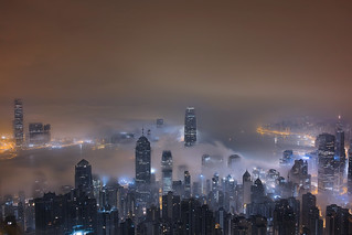 Blue Cityfogscape | by Lenny K Photography