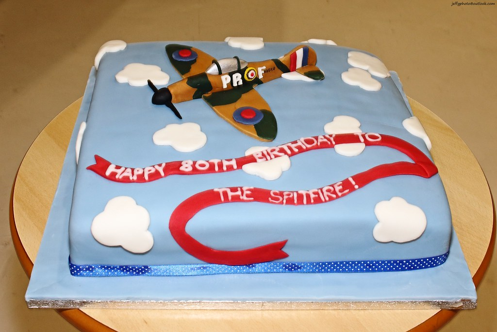 Spitfires 80th Birthday Cake The Spitfires First Flight Flickr