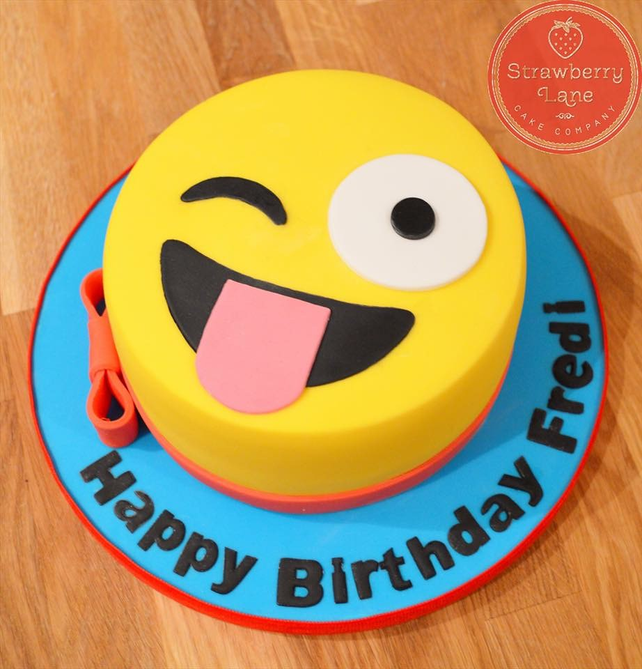 Emoji Birthday Cake Strawberrylanecakecompany Flickr