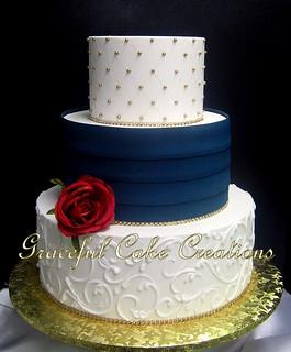 Navy Blue Cake Boxes