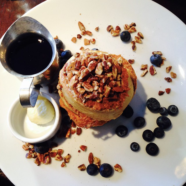 Sticky Bun French Toast with Pecans and Blueberries at Hyatt Regency Albuquerque