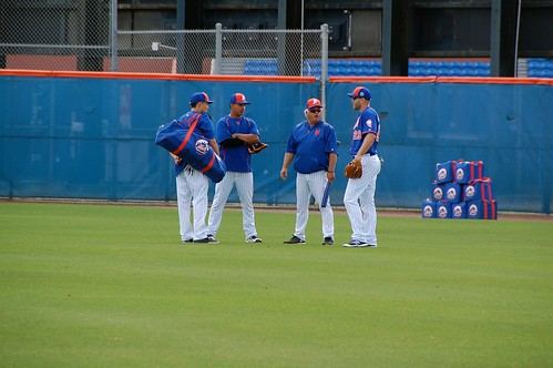 Wally Backman and players | by Julie Rubes