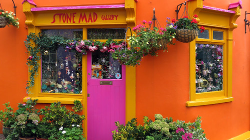 Bright Orange Shop in Kinsale, Ireland