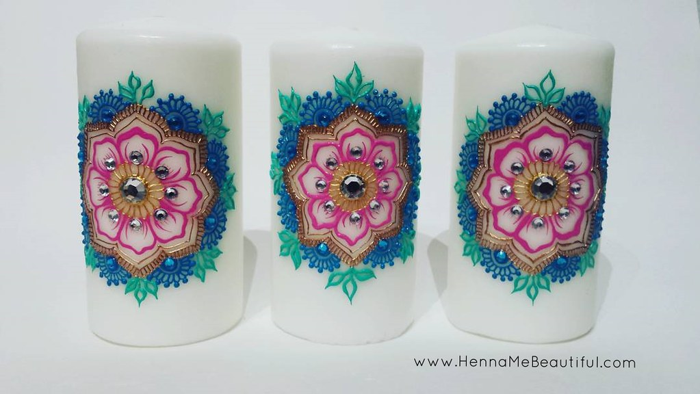 Completed My First Set Of Custom Order Henna Candles Can Flickr
