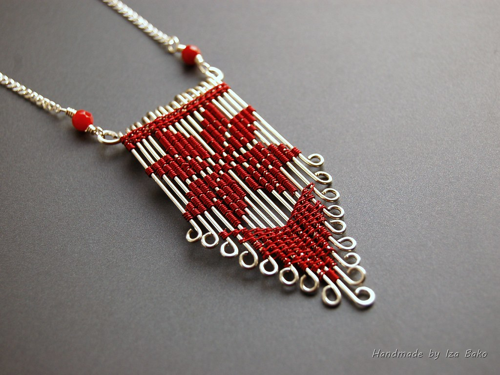 Traditional cross-stitch motif adapted to wire. Silver-fil… | Flickr