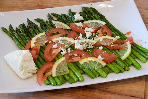 Asparagus with Lemon, Tomato, Queso Fresco - Crumbling Cheese | by Chris Mower