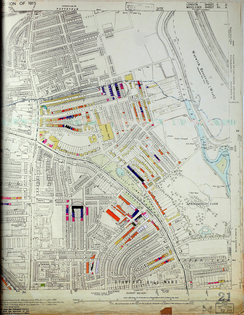 London County Council Bomb Damage Map Stamford Flickr - London map 1945