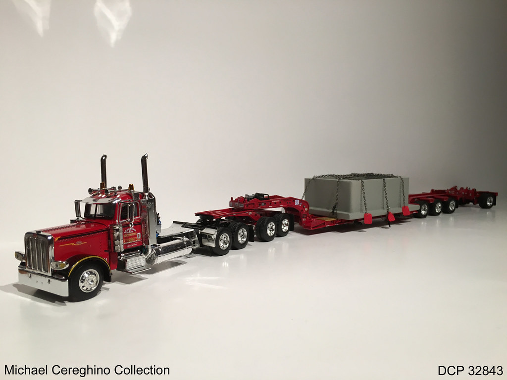 ... Diecast replica of Lefebvre & Sons Peterbilt 389 with Oversize Load,  DCP 32843 | by