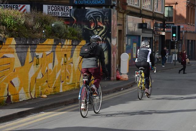 City Cycling, Stevenson Square, Northern Quarter, Manchester, England.