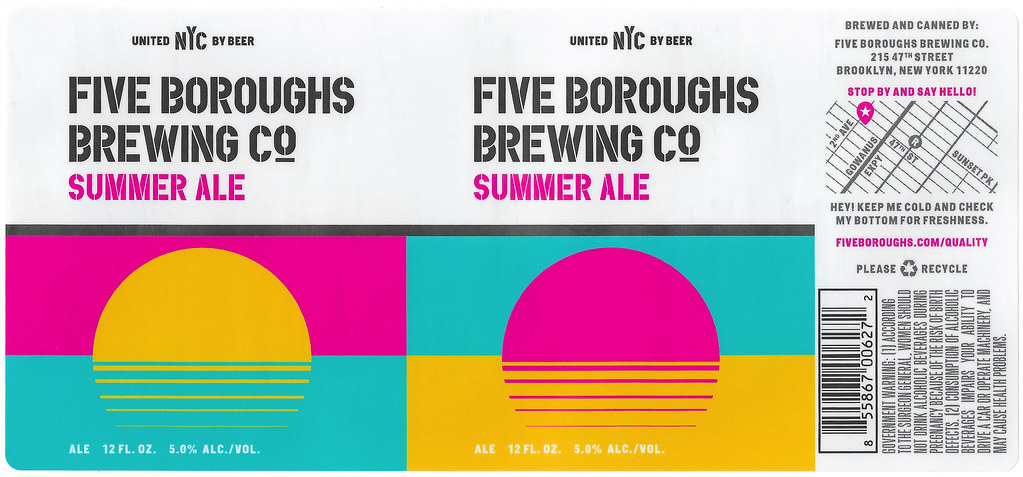 By Label_craft Summer Ale By Studio No 9 For Five Boroughs Brewing Co By Label_craft