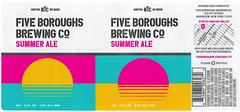 Summer Ale By Studio No 9 For Five Boroughs Brewing Co