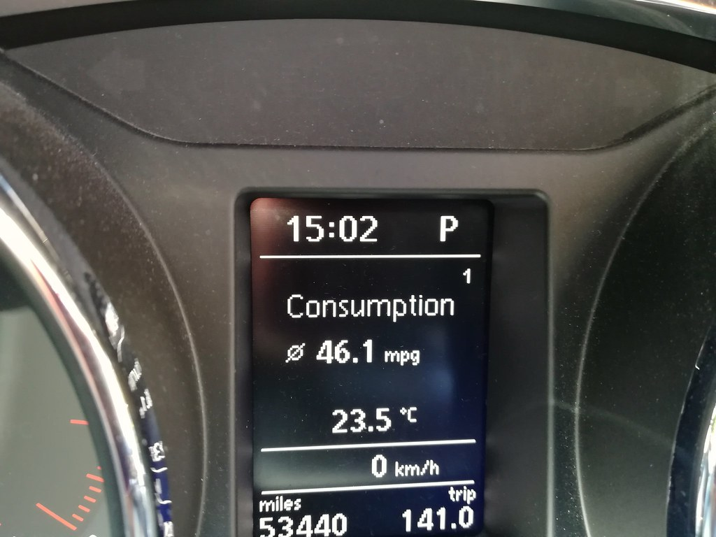My car must like the heat just got 46 mpg on the trip back… | Flickr
