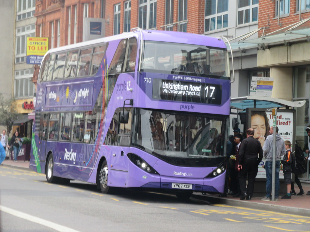 reading buses route 17 | yp67 xce, 710 | purple alexander … | flickr