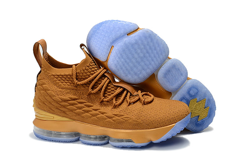 online store 571ff 98dda Cheap LeBron James Debuts Gold Nike LeBron 15 Custom from The Shoe Surgeon  - www.