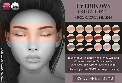 Catwa Eyebrows straight - out now @ Uber izzies.wordpress.co