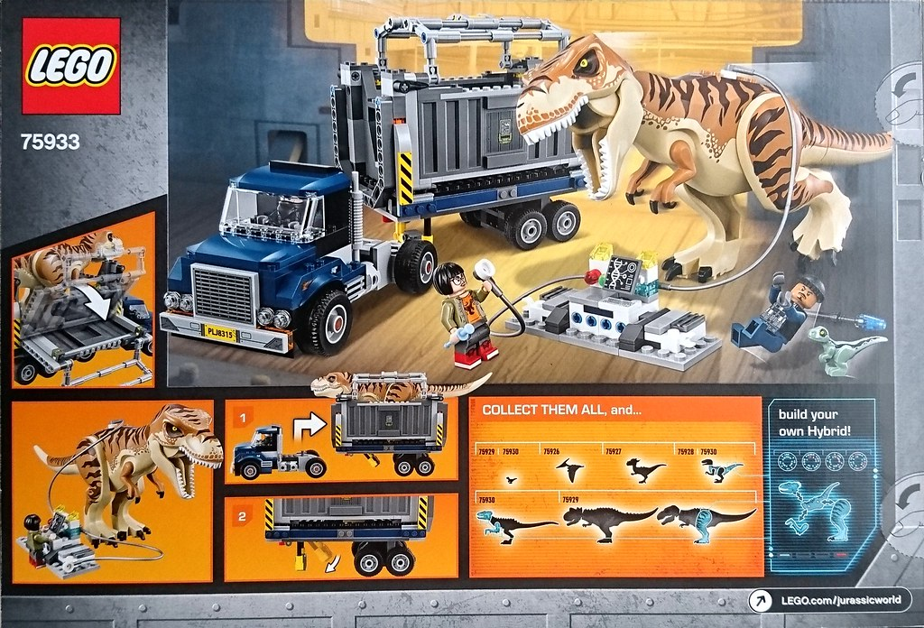 ... Jurassic World Fallen Kingdom 2018 (Jurassic Park 5) Lego 75933 T.rex  Transport