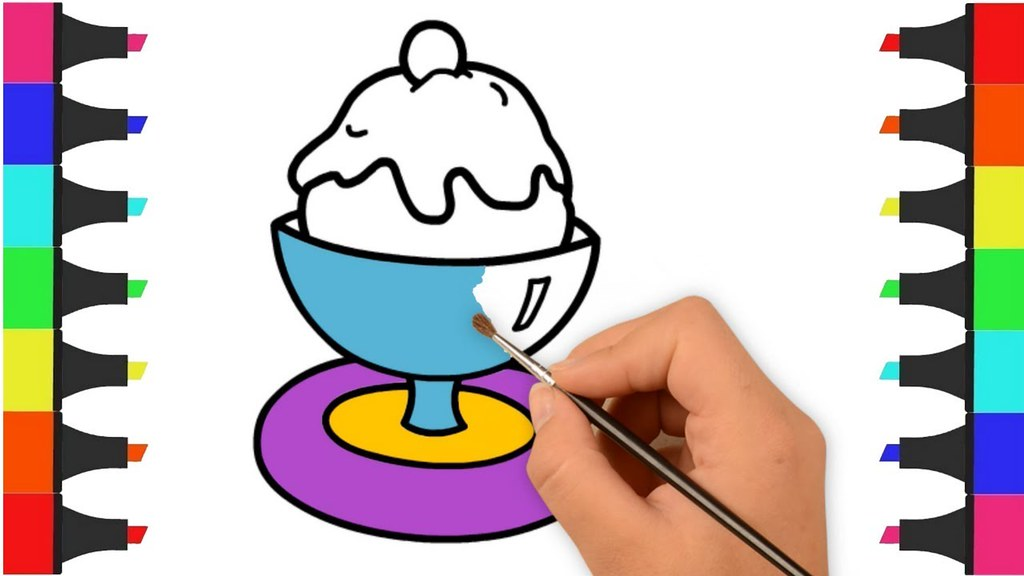 Ice Cream Coloring Pages For Kids, Kids Coloring Videos fo…   Flickr