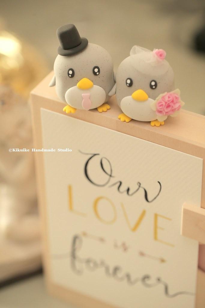 Handmade penguins bride and groom custom wedding cake topp… | Flickr