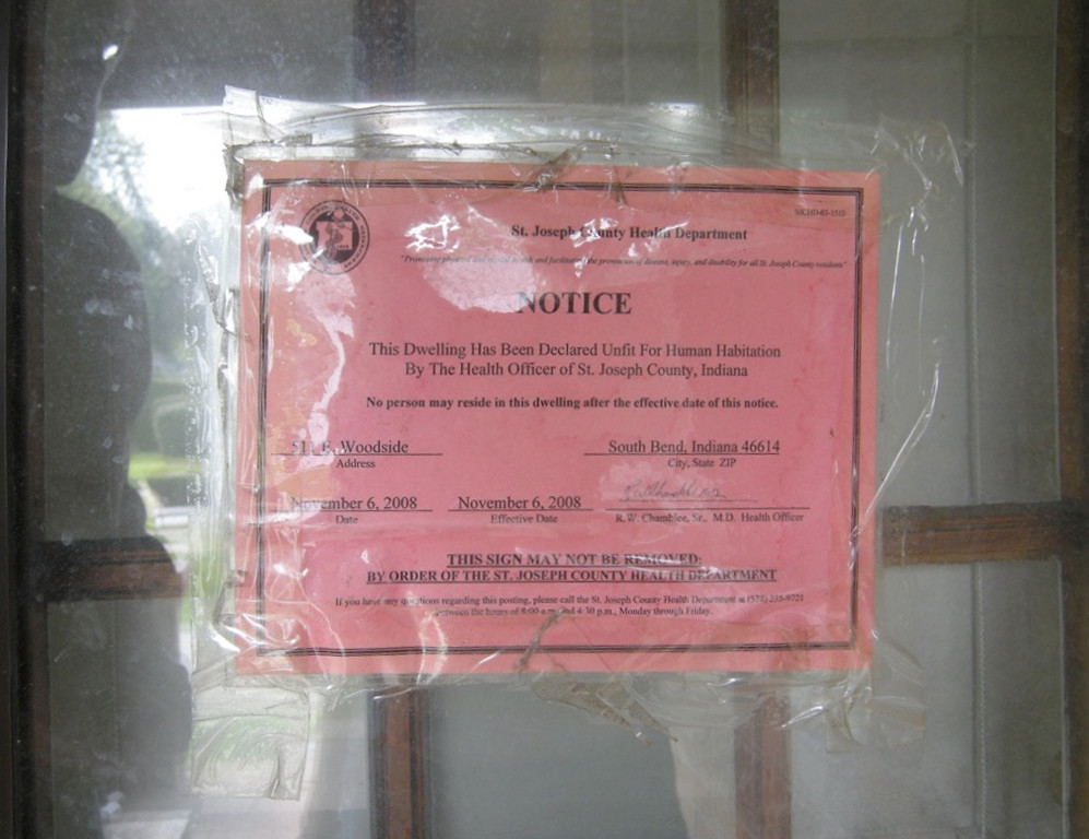 Notice on house ' unfit for human habitation!
