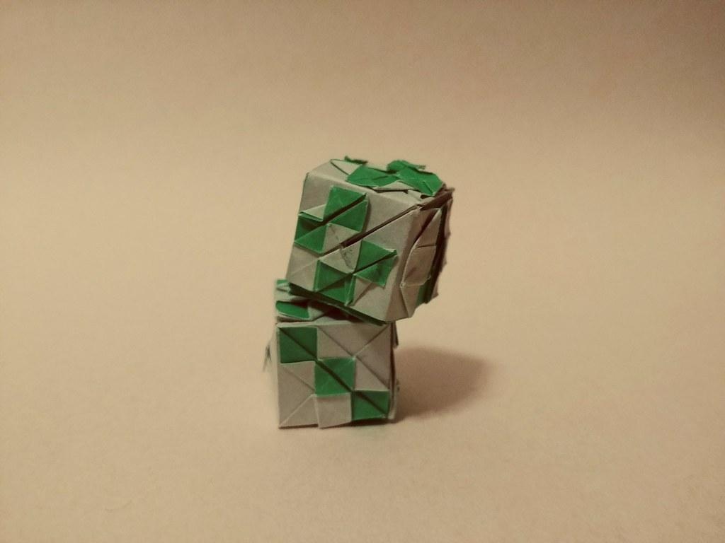 Origami Dice Author Tanaka Masashi Folded From Single Sh Flickr