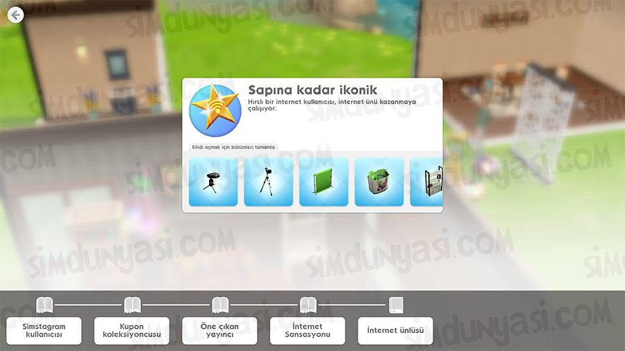 The Sims Mobile Internet Icon Hobby (İnternet İkonu - Sapına Kadar İkonik Hobisi) Etkinliği