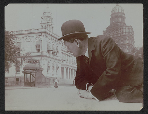 Do you suppose this was a commentary on how life in the big city made people feel?  (LOC) | by The Library of Congress