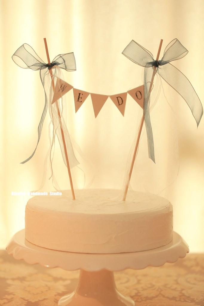 We Do Wedding Cake Banner,Flower Cake bunting,Rustic Weddi… | Flickr