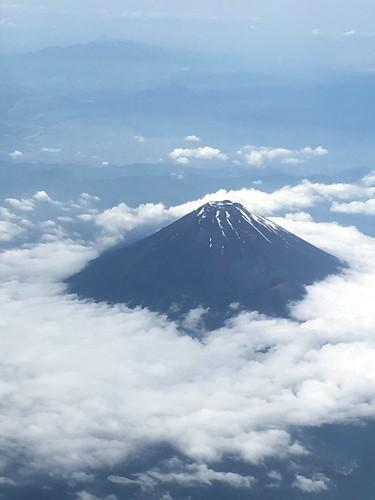 飛行機から富士山 2018/6/5