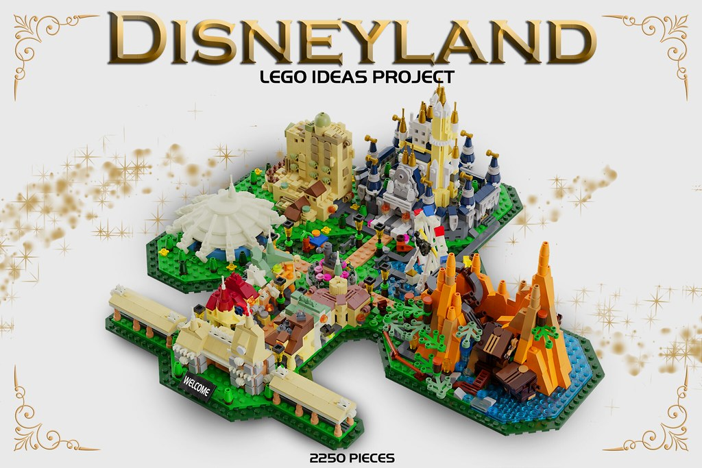 Disneyland Locations World Map.Disneyland World Map Lego Ideas Project This Is My Leg Flickr