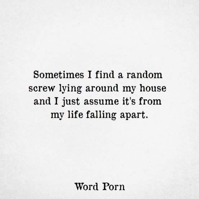 Funny Quotes Sometimes I Find A Random Screw Lying Aroun Flickr