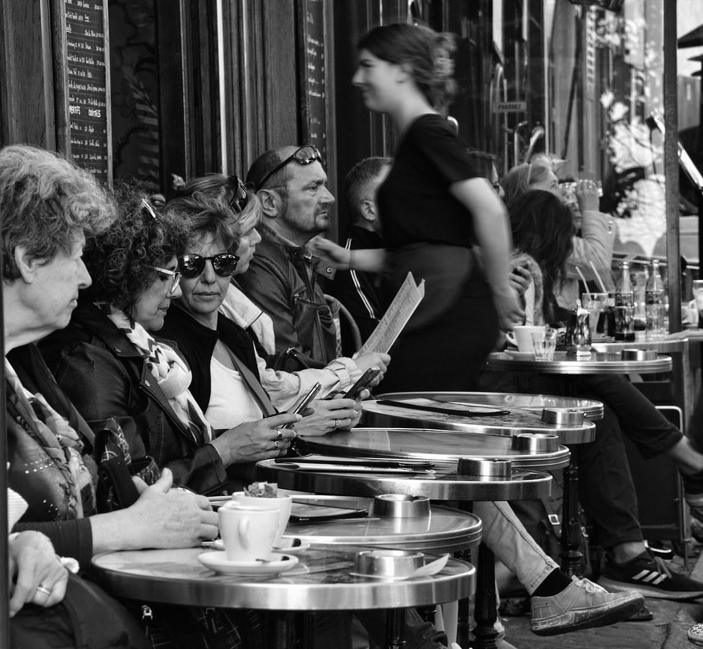 Terrasse De Cafe Parisien Aude Lewin Flickr