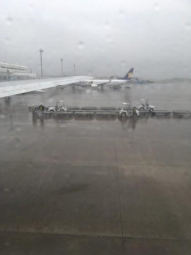 鹿児島空港着陸