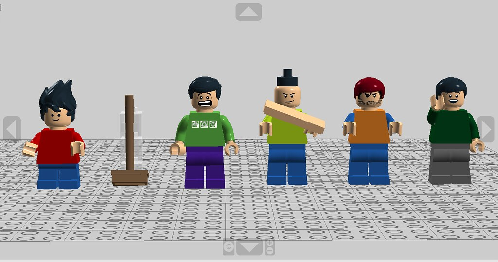 lego baldi s basics minifigures from left to right playti flickr