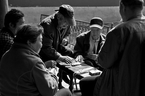 Old men playing cards at the Temple of Heaven, Beijing, China | by chrisjohnbeckett