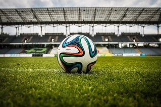 White Black and Green Soccer Ball on Soccer Field - Credit to http://homedust.com/ | by Homedust