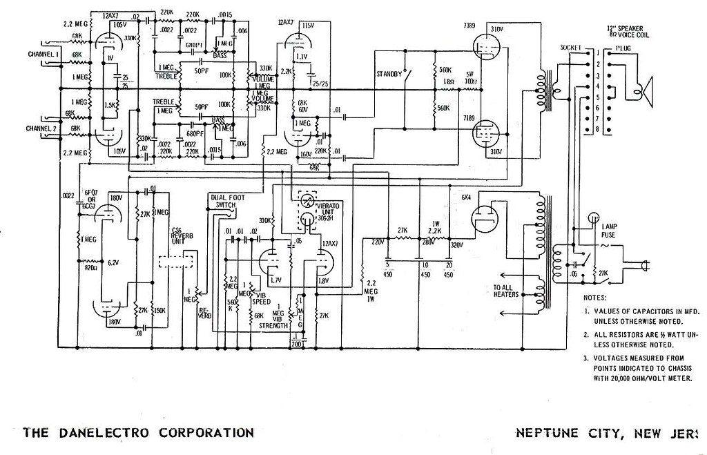 danelectro-dm25-amplifier-schematic | Anthony Hall | Flickr