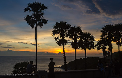 Sunset with Palms at Promthep Cape, Phuket island, Thailand | by Phuketian.S
