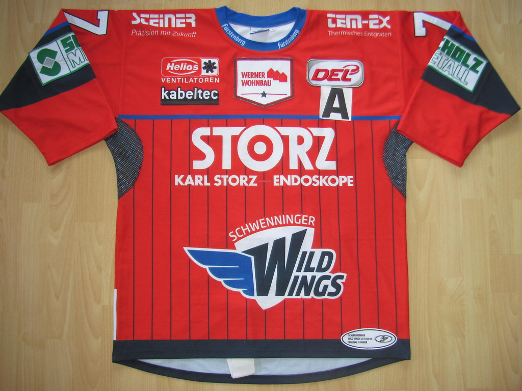 ... kirusgamewornjerseys SERC Wild Wings 2017 - 2018 alternate Game Worn  Jersey  b3ee4d84f