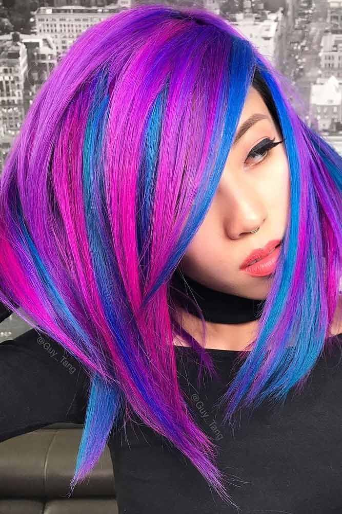 Hair Color 2017 2018 Neon Highlights To Shine Brighter Flickr