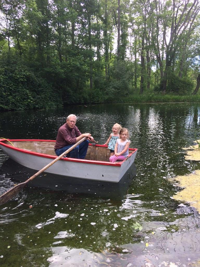 grandpa on the pond iwth aria and ella al boerema flickr