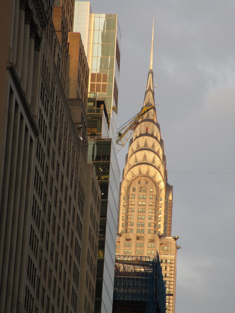 Chrysler Building Spire And Construction Crane 3727
