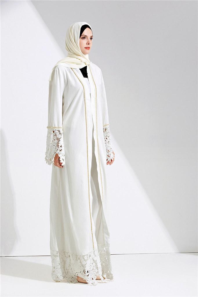 Dubai Abaya Muslim Dress Solid Plus Size Robe Knitting Dub… | Flickr