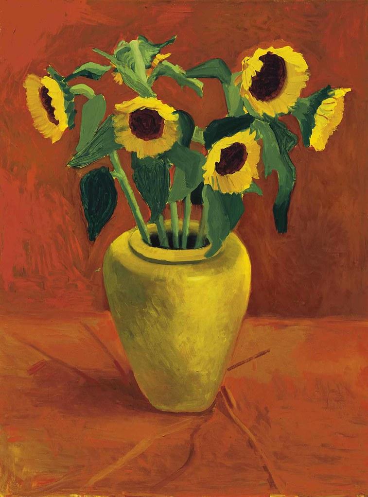 David Hockney Sunflowers In A Yellow Vase 1996 Flickr