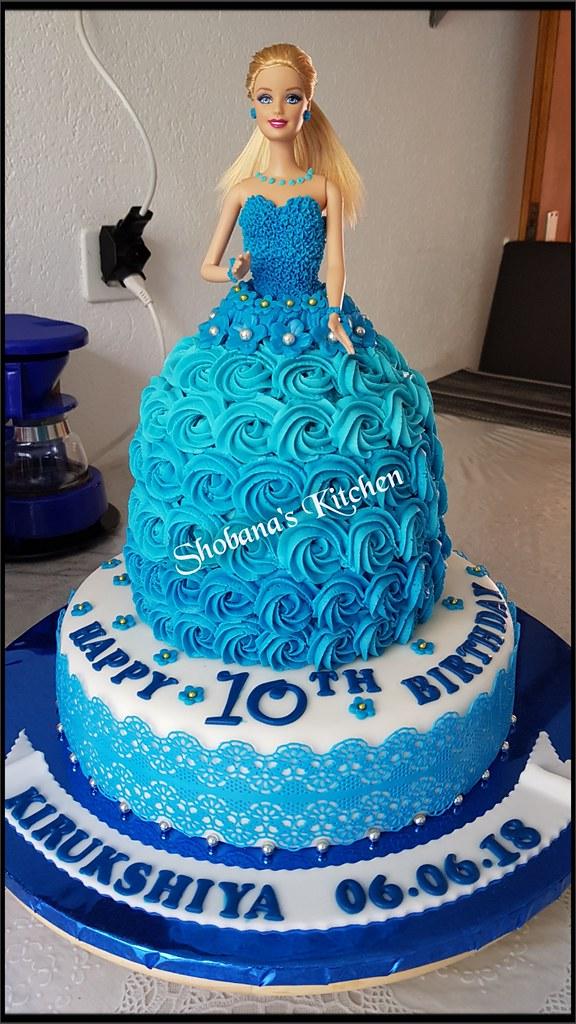 Barbie Doll Cake 10 Th Birthday Cake Barbie Torte Flickr