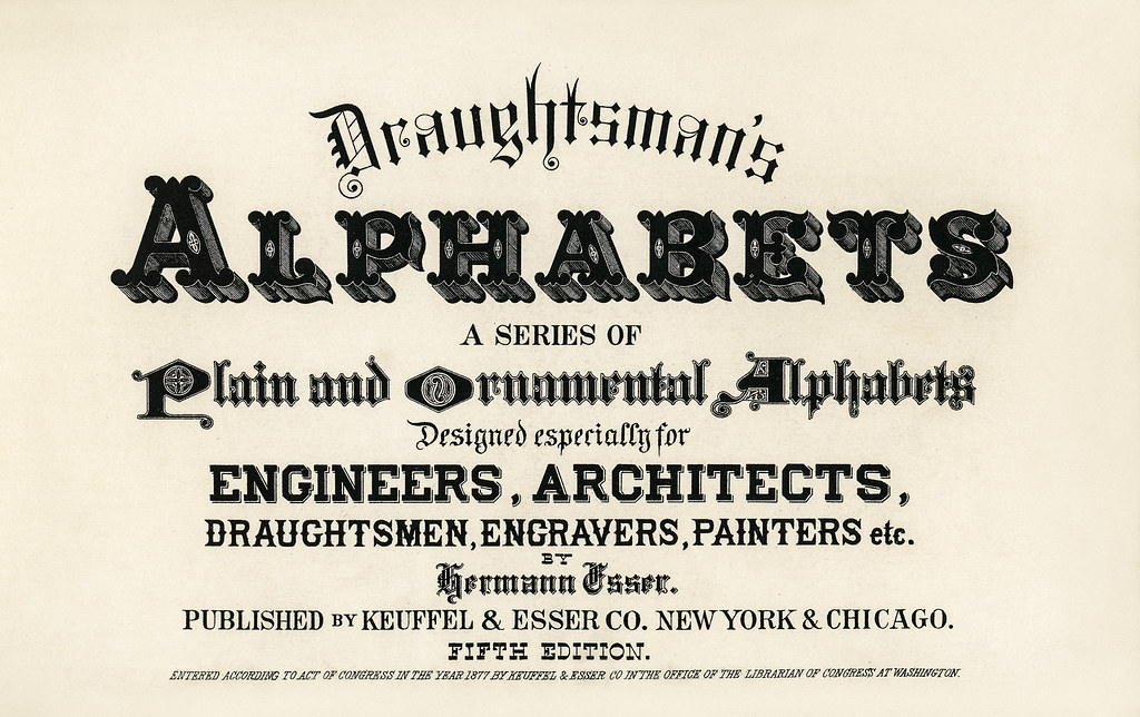 Different Types Of Fonts From Draughtsman39s Alphabets By Hermann Esser 1845ndash