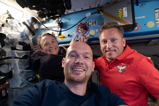 Expedition 56-57 crewmates pose for a portrait | by NASA Johnson
