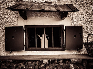 window with milk churn | by genelabo